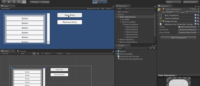 Unity UI Video-Tutorial: SelectionList